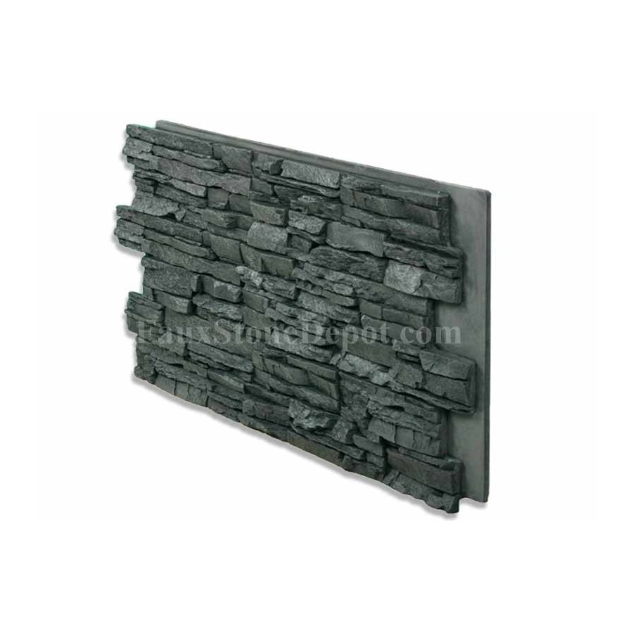 Stacked Stone Panel Charcoal