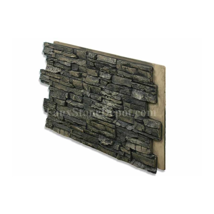 Stacked Stone Panel Noir