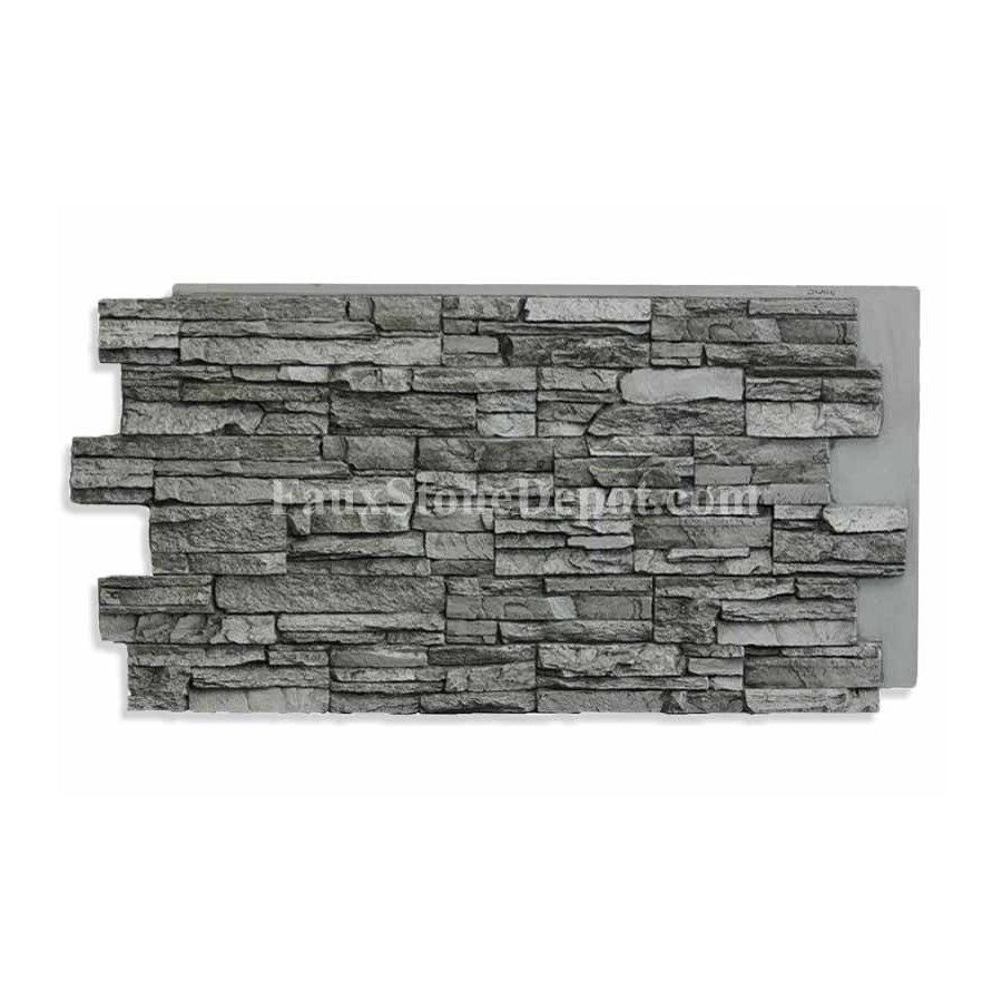 Faux Stacked Stone Panel Slate