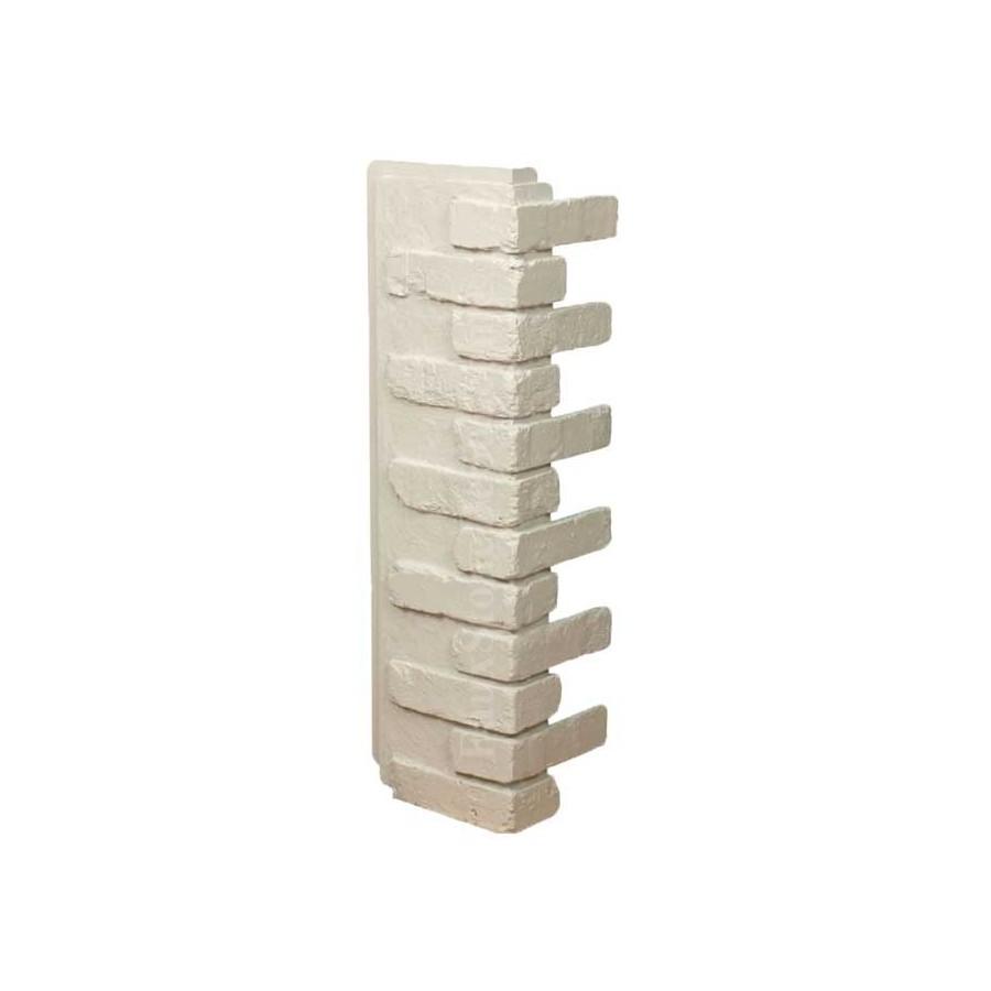White Faux Brick: 32in Faux Brick Outside Corner