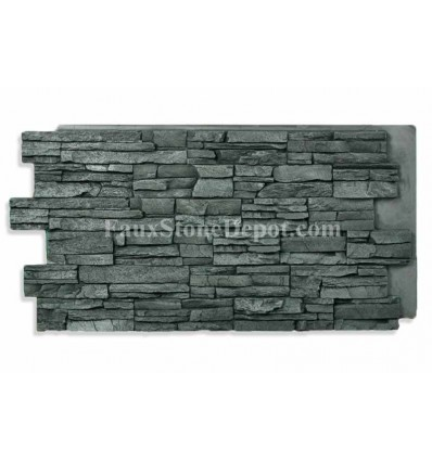 Stacked Stone Panel 24x48 - Charcoal