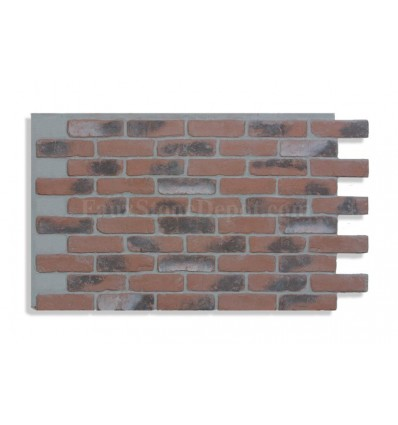 """28"""" Faux Brick Panel - Chicago Red Light Grout"""