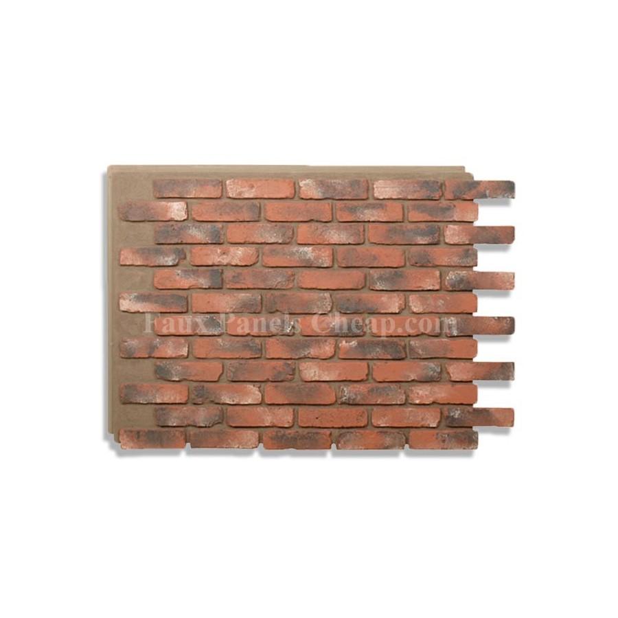Faux brick panels chicago red - Fake brick skirting ...