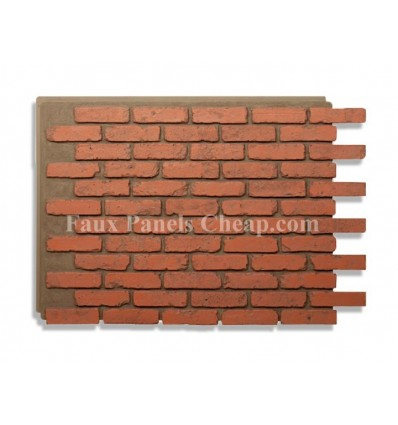 Rustic Faux Brick - Red
