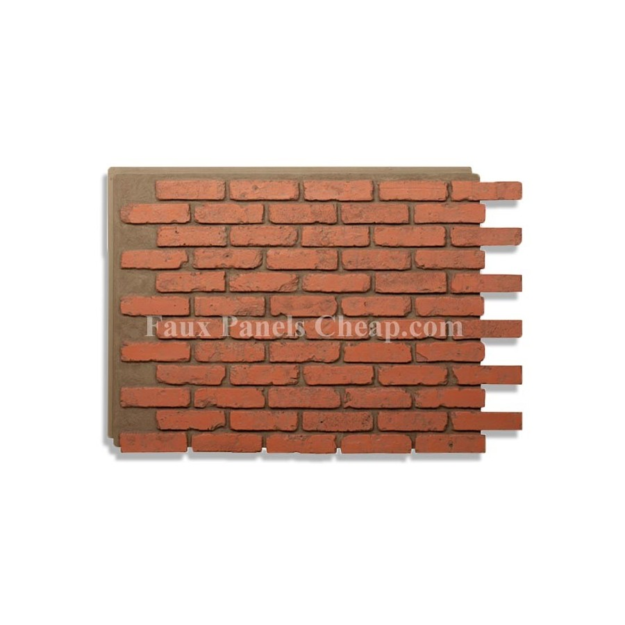 Faux Brick Panels Red