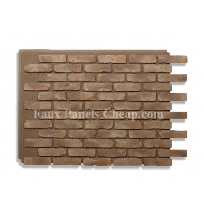 Faux Brick Panels Taupe