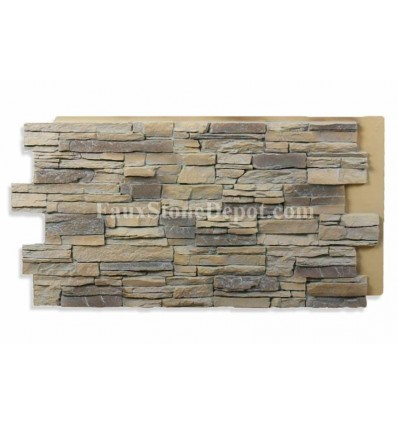 Stacked Stone Panel 24x48 - Almond