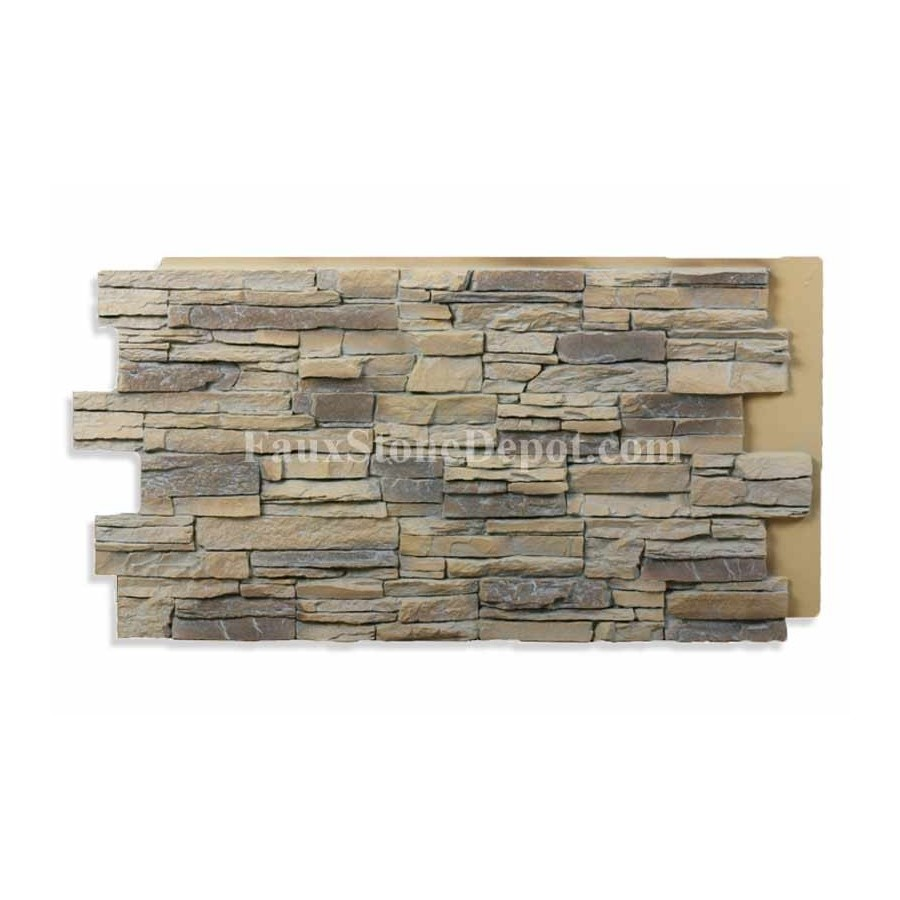 Stacked Stone Panel Almond