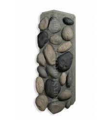 River Rock Outside Corner - Gray