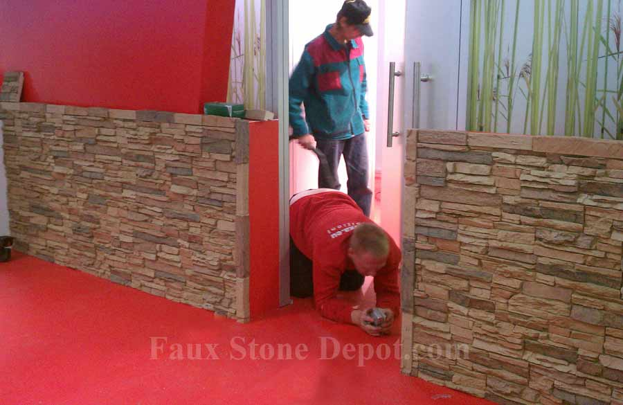 Commercial Application Of Faux Stone