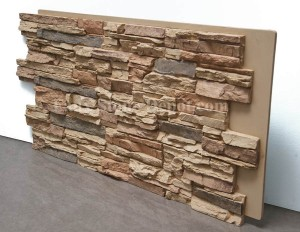 Marvelous A Stacked Stone Panel
