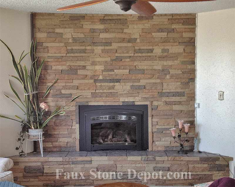 Fireplace Makeover The Blog On Cheap Faux Stone Panels