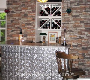 Faux Stone Bar Photo