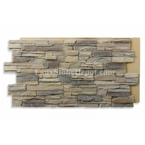 Almond stone panels