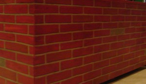 faux-brick paint.