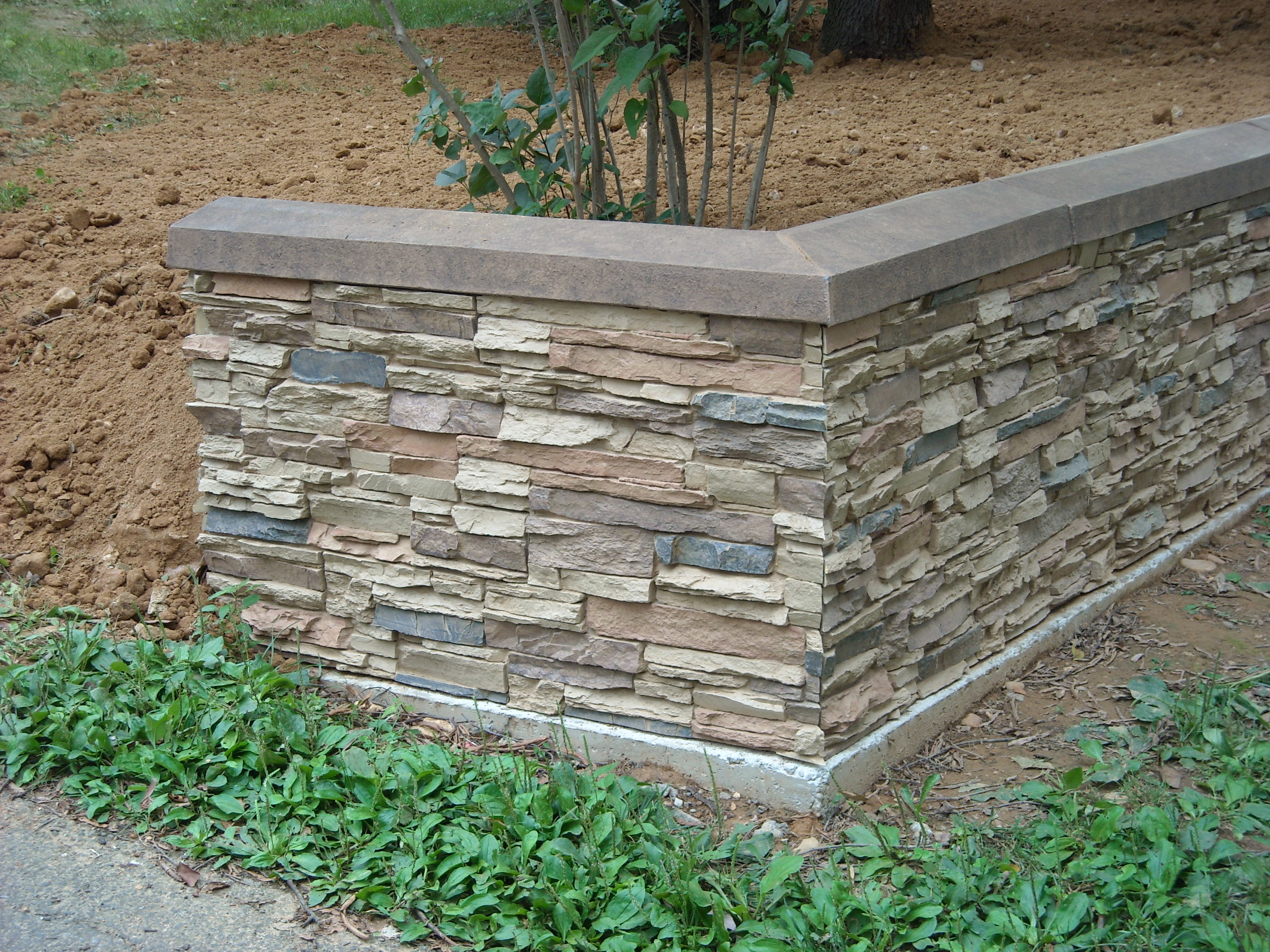 Plastic Stone Walls : Faux stone panels the on cheap
