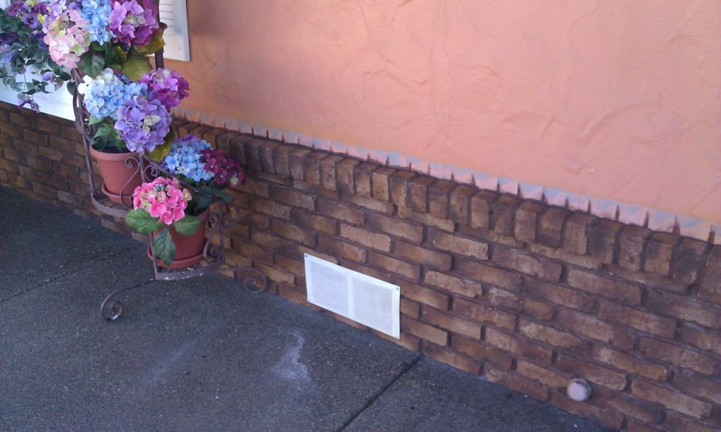 Faux Brick Applied To And Outdoor Skirting
