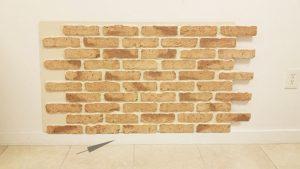 Brick Panel Above Baseboard