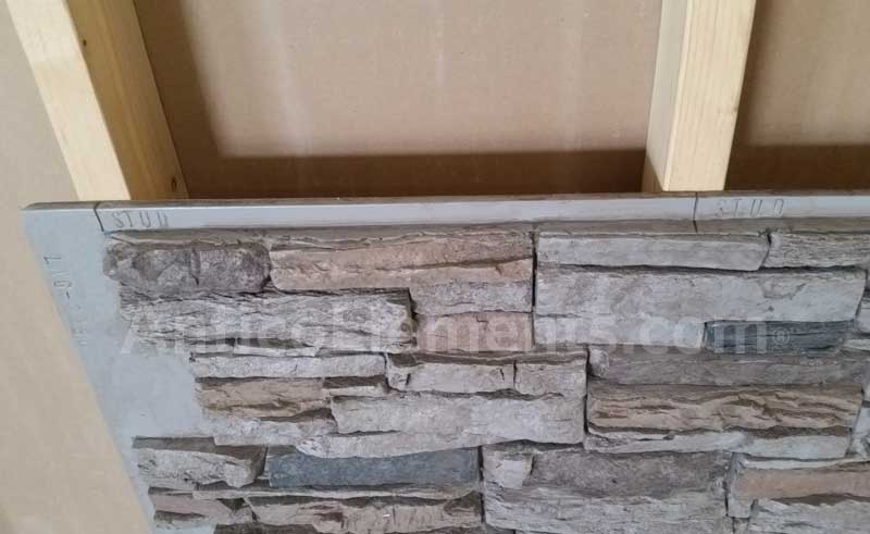 Installation The Blog On Cheap Faux Stone Panels