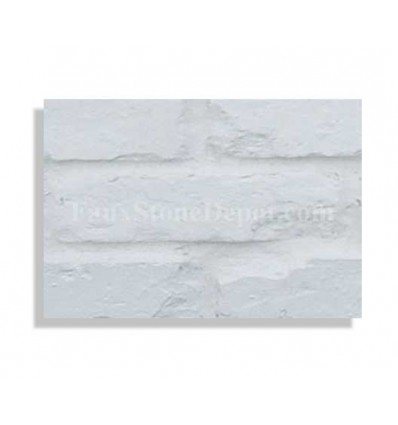 "Brick Sample For 28"" Panels - White - With Rebate - Free Standard Shipping"