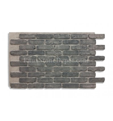 "28"" Faux Brick Panel - Charcoal"