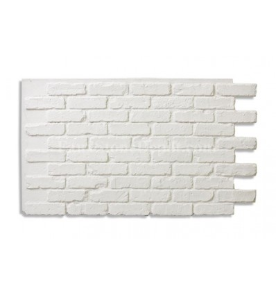 "28"" Faux Brick Panel - White"