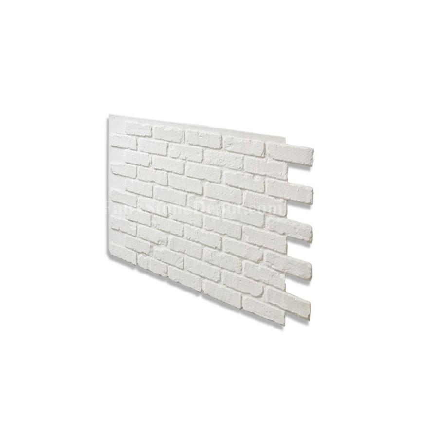 """White Faux Brick: 28"""" Faux Brick Panel"""