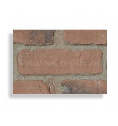 """Brick Sample For 28"""" Panels - Chicago Red Dark Grout- With Rebate - Free Standard Shipping"""