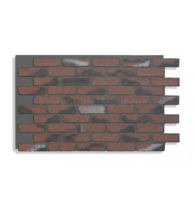 "28"" Faux Brick Panel - Chicago Red - Dark Grout"