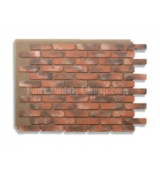 Rustic Faux Brick - Chicago Red