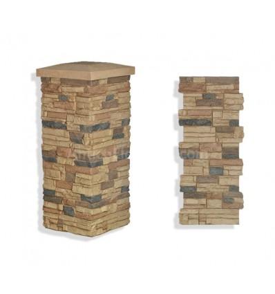 "Faux Stone Column Wrap 36"" - Sand"
