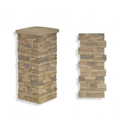 """Faux Stone Column Wrap 36"""" - Desert"""