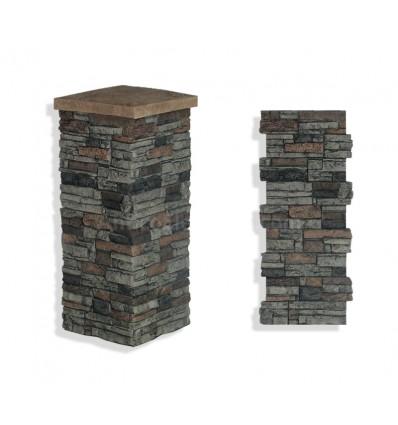 """Faux Stone Column Wrap 36"""" - Sedona"""