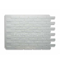 Rustic Faux Brick - White