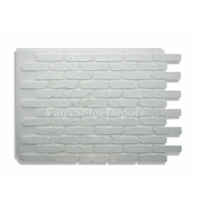 Faux Brick Panels- White