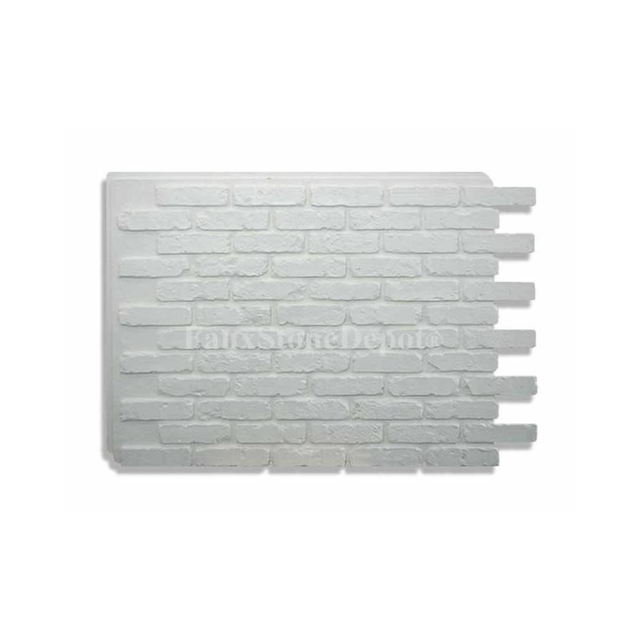 Faux Brick Panels White