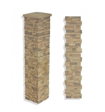 "15"" Faux Stone Column - Desert"