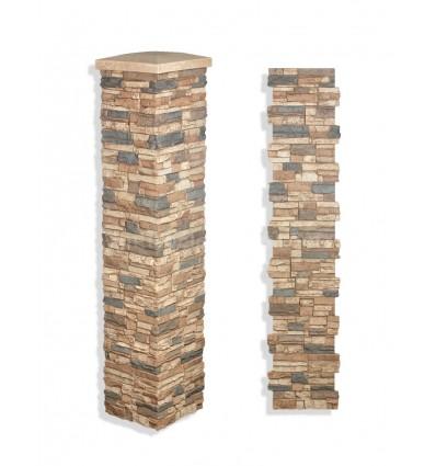 """Faux Stone Column Wrap 72"""" - Mocha"""