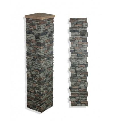 """Faux Stone Column Wrap 72"""" - Sedona"""