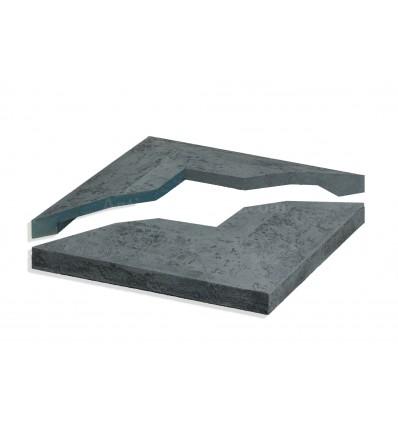Stone Cap - Charcoal - 4in - Split