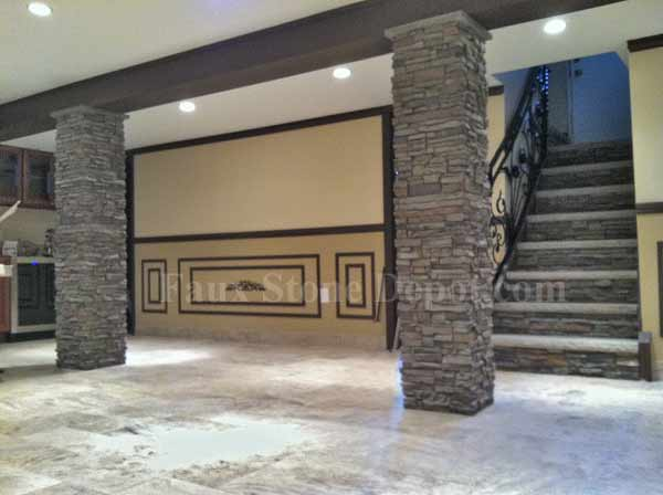 Contemporary Faux Stone Wraps