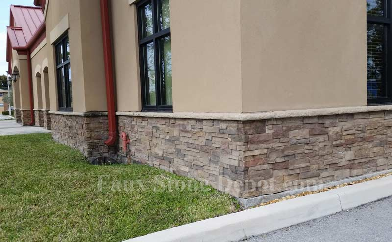 Faux Stone Wainscoting