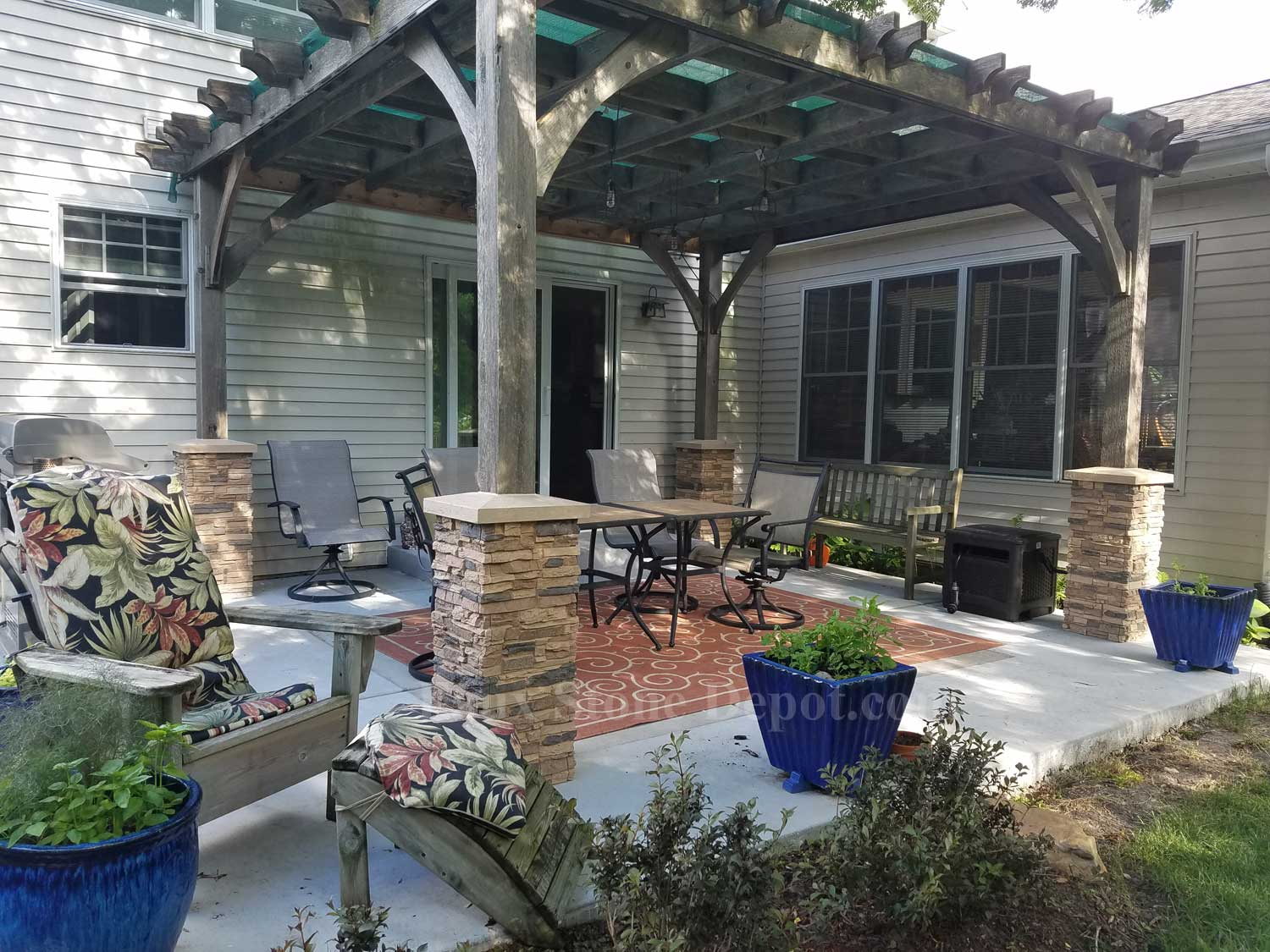 Faux Stone Columns For Porches