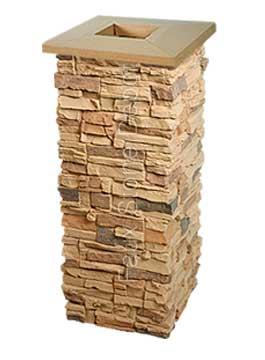 Faux Stone Columns